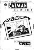 SALE, TIM - Batman: Long Halloween #12 cover, Two-Face / Harvey Dent in Bat frame Comic Art