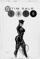 SALE, TIM - Solo #1 cover, Catwoman! Incredible drawing in her full leather costume and cat o'nine tails whip Comic Art
