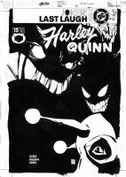 SALE, TIM - Harley Quinn #13 cover, Harley vs Joker monsters Comic Art