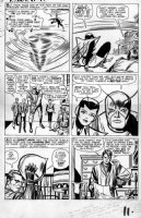 KIRBY, JACK - Tales To Astonish #51 large pg 9, Giant Man, Wasp vs Human Top, founding Avengers Comic Art