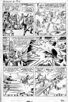 KIRBY, JACK - Tales To Astonish #51 large pg 8, Giant Man, Wasp vs Human Top, founding Avengers Comic Art