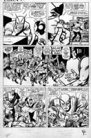 KIRBY, JACK - Tales To Astonish #51 large pg 4, Giant Man, Wasp vs fan cub, founding Avengers Comic Art