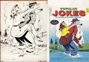 COLE, JACK - Popular Jokes cover Timely / Humorama   Comic Art