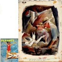 COLE, JACK - Playboy Magazine, full color cartoon, Venus De Milo  June 1956 Comic Art