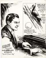 RIPLEY, ROBERT - 'Believe It Or Not' daily  4/26 1948,  Liberace & Extinct Woodpecker Comic Art