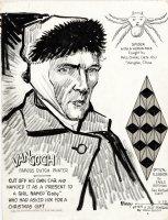RIPLEY, ROBERT - 'Believe It Or Not' daily  2/28 1949,  Van Gogh cuts ear & human spider Comic Art