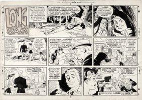 LUBBERS, BOB - Long Sam Sunday, Long Sam seduced for gold mine  12/28 1958  Comic Art