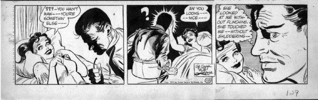 LUBBERS, BOB - Long Sam daily 6-14 1955 Comic Art