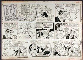 LUBBERS, BOB - Long Sam Sunday 6-16-1957, Jane Mansfield satire Comic Art