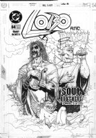 OLIVETTI, ARIEL - Lobo #64 cover, final issue - Lobo & Etrigan the Demon as angels Comic Art