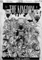 OLIVETTI, ARIEL - THE KINGDOM #1 cover, Gog kills Superman so many times! Comic Art