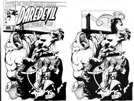 OLIVETTI, ARIEL - Daredevil #370 unpublished cover,  DD vs Soviet Super-Soldiers Vanguard Darkstar Ursa-Major Comic Art