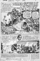 ALCALA, ALFREDO - Ghosts #25 pg 1 title splash Three Skulls, 1974 Comic Art