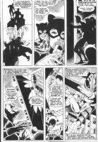 STATON, JOE - DC Super-Star #17 pg 7, solo Huntress story, Catwoman vs Batman Comic Art