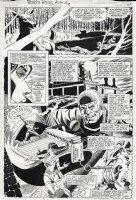 STATON, JOE - Wonder Woman #294 page 2, two thirds splash page! Huntress vs the Crimelord Comic Art