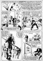 BAKER, KYLE - Avengers #280 page 9 the Avengers break up Comic Art