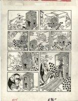 PROHIAS, ANTONIO - Mad Magazine #245, Spy vs Spy, Black Spy crated upside-down! 1984 Comic Art