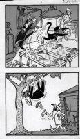 PROHIAS - Mad Spy vs Spy 1970 book pg 159 up a tree Comic Art