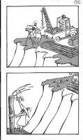 PROHIAS - Mad Spy vs Spy 1970 book pg 132, White Spy building bridge Comic Art