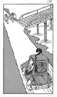 PROHIAS - Mad Spy vs Spy 1970 book pg 133, splash, Black Spy drives Comic Art