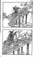 PROHIAS - Mad Spy vs Spy 1970 book pg 136, Black Spy towed by White Spy Comic Art