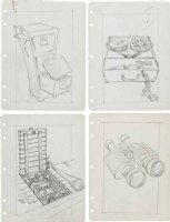 PROHIAS - All New MAD Secret File on Spy vs Spy book, 4 pencil bio pages, unused? 1965 Comic Art