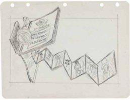 PROHIAS - All New MAD Secret File on Spy vs Spy book, pencil Spy Passport, unused? 1965 Comic Art