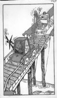 PROHIAS - Mad Spy vs Spy 1970 book splash pg 137 tow truck Comic Art