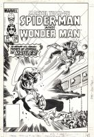 FRENZ, RON & PAUL SMITH - Marvel Team-Up #136 cover, Spider-Man and Wonder Man vs The Mauler Comic Art