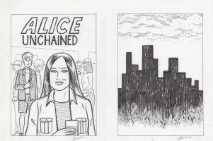HERNANDEZ, GILBERT - Big Bang Theory TV comic Art Covers  Alice Unchained  Season 5 episode 7, Leonard's date Alice's indy comic book Comic Art