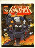 O'NEILL, KEVIN - Punisher #17 painted cover, Punisher ala Dredd! Marvel UK Comic Art
