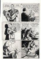 MILLS, TARPE - Miss Fury #6 pg 2, 1st story page, Fury captured, Bruno fights Yank  1944-1945 Comic Art