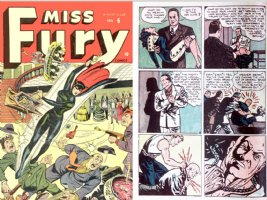 MILLS, TARPE - Miss Fury #6 comic & page, 1944-1945, character reference 1944- Comic Art