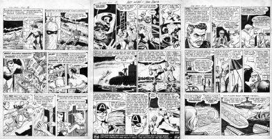 EVERETT ROMITA BURGOS - YOUNG MEN #26 Three page set - Capt America, Human Torch, Submariner Comic Art