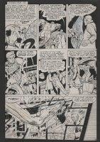 AYERS, DICK / CARL BURGOS - Human Torch #36 lrg pg, Torch captured & Toro to the rescue, 1954 Comic Art