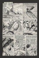 POWELL, BOB - Human Torch #36 lrg pg, Submariner & sea-monster 1954 Comic Art