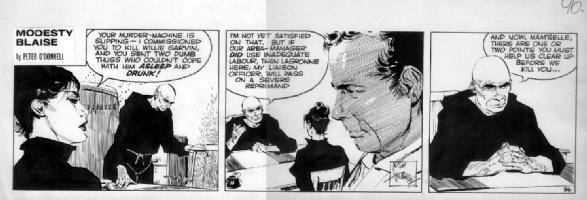 HOLDAWAY, JIM - Modesty Blaise daily #96, Modesty and monk Comic Art