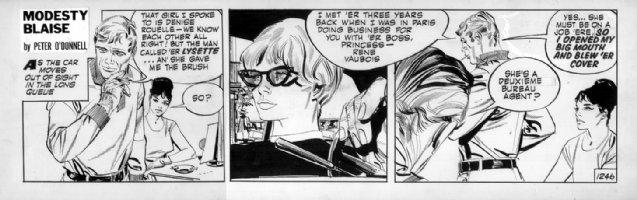 HOLDAWAY, JIM - Modesty Blaise daily  #1246 Comic Art