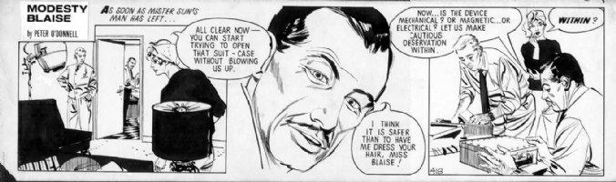 HOLDAWAY, JIM - Modesty Blaise daily #418, 2nd year Comic Art