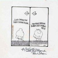 WILSON, TOM - Ziggy Daily, signed, 1973 Comic Art