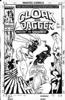 VOSBURG, MIKE - Cloak And Dagger #8 cover + Hulk & King Pin Comic Art