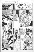 VOSBURG, MIKE - Ms Marvel #25 pg 10, pre-Avengers Ann #10, Ms Marvel & Black Queen, 1979 Comic Art