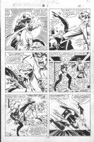 VOSBURG, MIKE - Ms Marvel #25 pg 12, pre-Avengers Ann #10, Ms Marvel fights, 1979 Comic Art