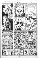 VOSBURG, MIKE - Ms Marvel #25 pg 13, pre-Avengers Ann #10, Ms Marvel, Hellfire Club 1979 Comic Art