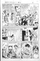 VOSBURG, MIKE - Ms Marvel #25 pg 2 pre-Avengers Ann #10, Ms & Iron Man 1979 Comic Art