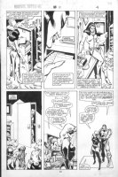 VOSBURG, MIKE - Ms Marvel #25 pg 4, pre-Avengers Ann #10, Ms & Iron Man at funeral 1979 Comic Art