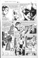 VOSBURG, MIKE - Ms Marvel #25 pg 5, pre-Avengers Ann #10, Ms & Iron Man Ms & Iron Man at funeral 1979 Comic Art