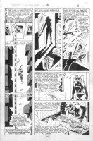 VOSBURG, MIKE - Ms Marvel #25 pg 8, pre-Avengers Ann #10, Ms Marvel investigates 1979 Comic Art