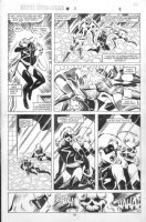 VOSBURG, MIKE - Ms Marvel #25 pg 9, pre-Avengers Ann #10, Ms Marvel faces death 1979 Comic Art