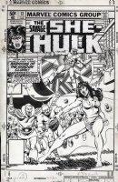 VOSBURG, MIKE - She-Hulk #13 cover, She-Hulk & Man-Wolf Comic Art